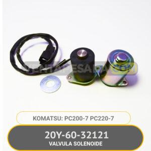 20Y-60-32121 Válvula Solenoide PC200-7, PC220-7 KOMATSU