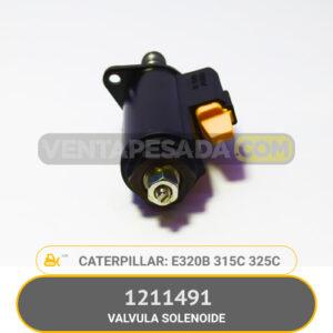 1211491 VALVULA SOLENOIDE E320B 315C 325C CATERPILLAR