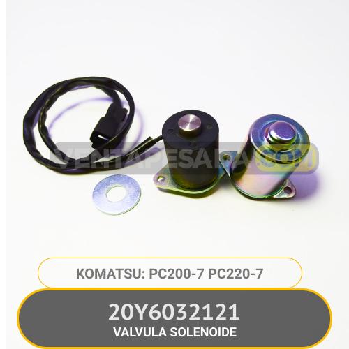 20Y6032121 Válvula Solenoide PC200-7, PC220-7 2 KOMATSU