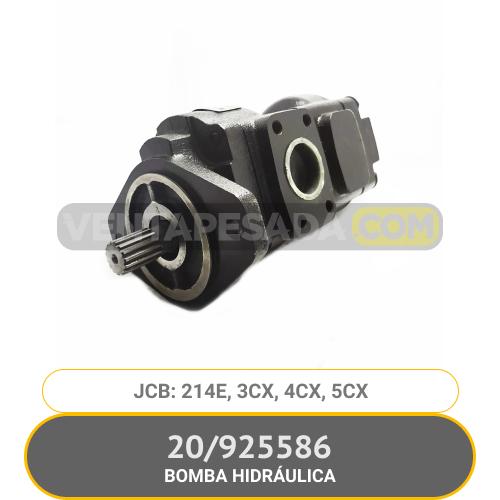 925586 BOMBA HIDRÁULICA 214E, 3CX, 4CX, 5CX JCB
