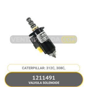 1211491 VALVULA SOLENOIDE 312C 308C CATERPILLAR