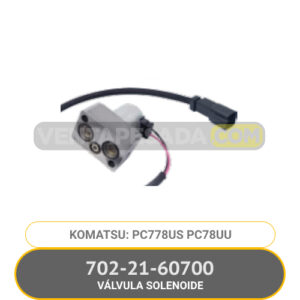 702-21-60700 VÁLVULA SOLENOIDE PC78US PC78UU KOMATSU