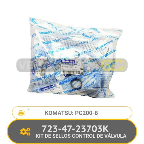 723-47-23703K KIT DE SELLOS CONTROL DE VALVULA PC200-8 KOMATSU