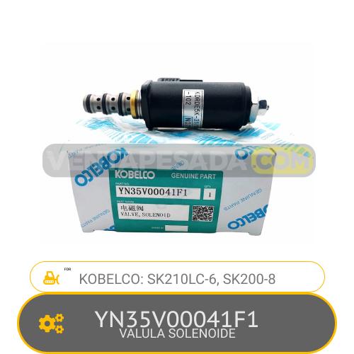YN35V00041F1 VALVULA SOLENOIDE SK210LC-6, SK200-8 KOBELCO