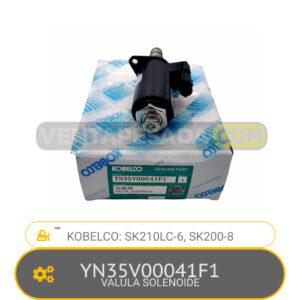 YN35V00041F1 - VALVULA SOLENOIDE SK210LC-6, SK200-8 KOBELCO