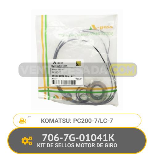 706-7G-01041K KIT DE SELLOS MOTOR DE GIRO PC200-7 PC200LC-7 KOMATSU