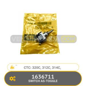 1636711 SWITCH AS-TOGGLE 320C, 312C, 314C, CATERPILLAR