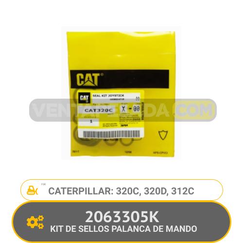 2063305K KIT DE SELLOS PALANCA DE MANDO 320C, 320D, 312C, CATERPILLAR
