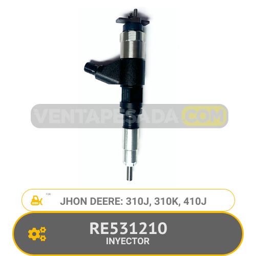 RE531210 INYECTOR 310J, 310K, 410J, JHON DEERE