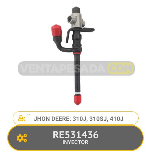 RE531436 INYECTOR 310J, 310SJ, 410J, JHON DEERE