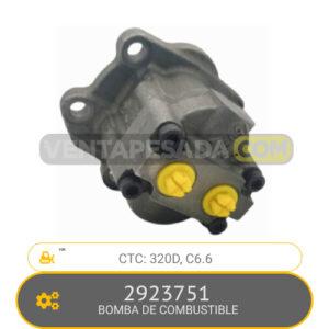 2923751 BOMBA DE COMBUSTIBLE 320D, C6.6, CTC