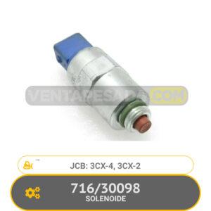 30098 SOLENOIDE 3CX-4, 3CX-2, JCB