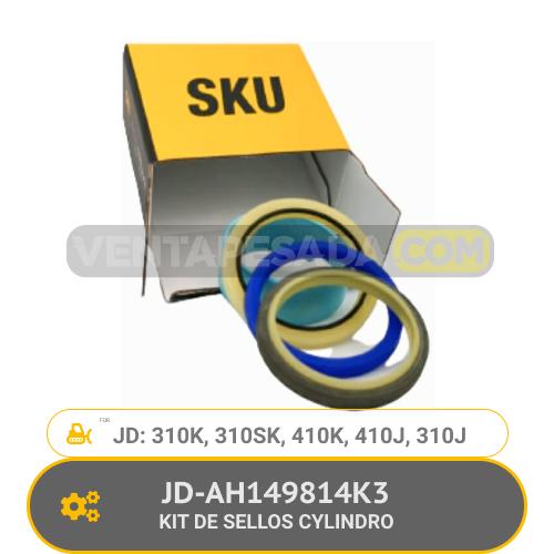 JD-AH149814K3 KIT DE SELLOS CYLINDRO 310K, 310SK, 410K, 410J, 310J, JD
