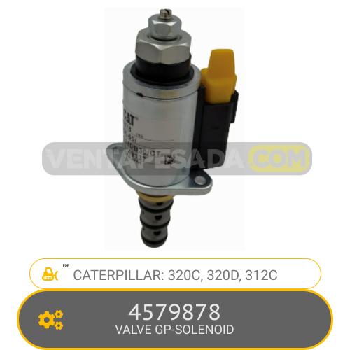 4579878 VALVE GP-SOLENOID 320C, 320D, 312C, CATERPILLAR
