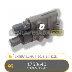 1730640 VALVE GP-PUMP 416C, 416D, 420D, CATERPILLAR1730640 VALVE GP-PUMP 416C, 416D, 420D, CATERPILLAR
