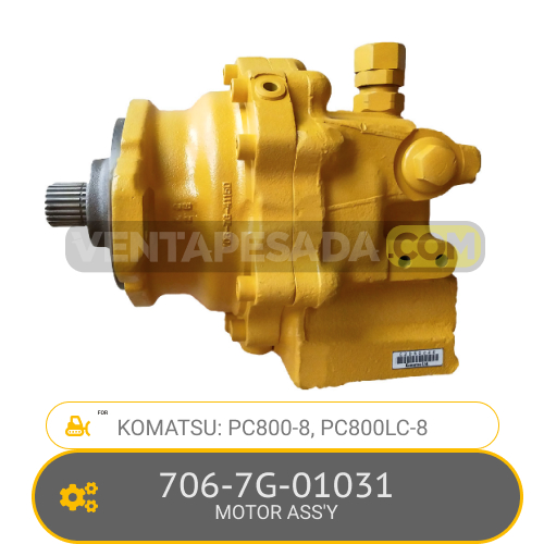 706-7G-01031 MOTOR ASS'Y PC800-8, PC800LC-8, KOMATSU