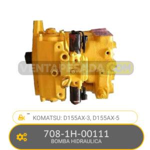 708-1H-00111 BOMBA HIDRAULICA D155AX-3, D155AX-5 KOMATSU