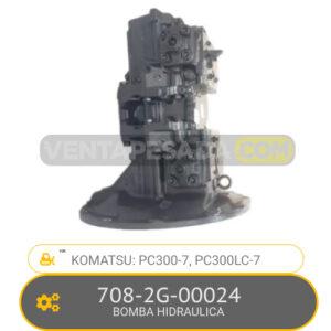 708-2G-00024 BOMBA HIDRAULICA PC300-7, PC300LC-7, KOMATSU