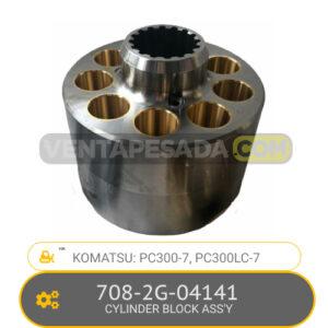 708-2G-04141 CYLINDER BLOCK ASSSSÝ PC300-7, PC300LC-7 KOMATSU