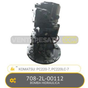 708-2L-00112 BOMBA HIDRAULICA PC220-7, PC220LC-7, KOMATSU