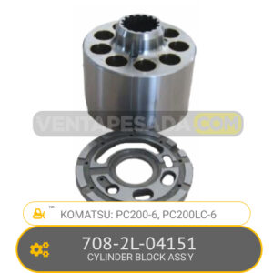 708-2L-04151 CYLINDER BLOCK ASS'Y PC200-6, PC200LC-6, KOMATSU