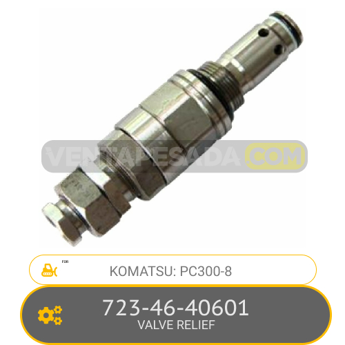 723-46-40601 VALVE RELIEF PC300-8, KOMATSU