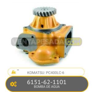 6151-62-1101 BOMBA DE AGUA PC400LC-6, KOMATSU