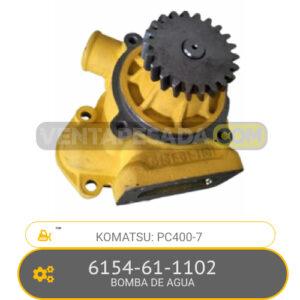 6154-61-1102 BOMBA DE AGUA PC400-7 KOMATSU