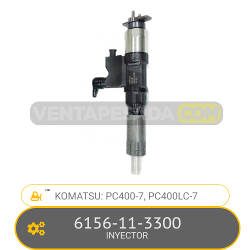 6156-11-3300 INYECTOR PC400-7, PC4000LC-7 KOMATSU