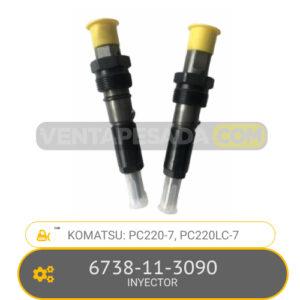 6738-11-3090 INYECTOR PC220-7, PC220LC-7, KOMATSU