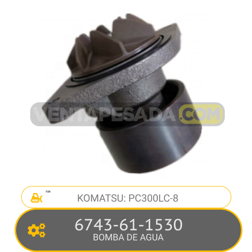 6743-61-1530 BOMBA DE AGUA PC300LC-8, KOMATSU
