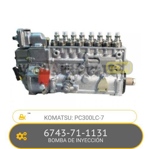 6743-71-1131 BOMBA DE INYECCIÓN PC300LC-7 KOMATSU