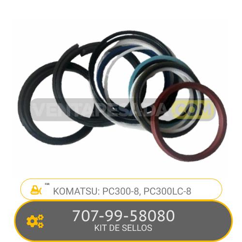 707-99-58080 KIT DE SELLOS PC300-8, PC300LC-8, KOMATSU