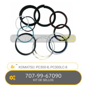 707-99-67090 KIT DE SELLOS PC300-8, PC300LC-8, KOMATSU