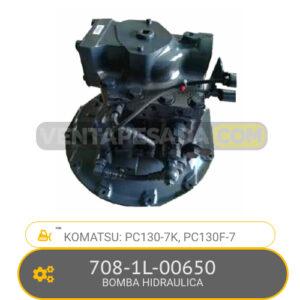 708-1L-00650 BOMBA HIDRAULICA, PC130-7K, PC130F-7 KOMATSU