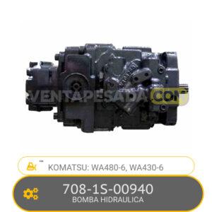 708-1S-00940 BOMBA HIDRAULICA, WA480-6, WA430-6 KOMATSU