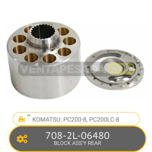 708-2L-06480 BLOCK ASS'Y REAR PC200-8, PC200LC-8, KOMATSU