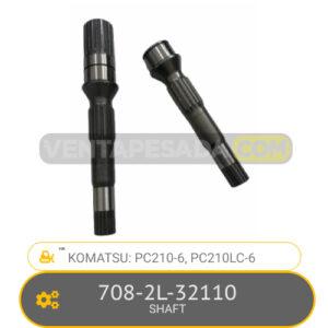 708-2L-32110 SHAFT PC210-6, PC210LC-6, KOMATSU