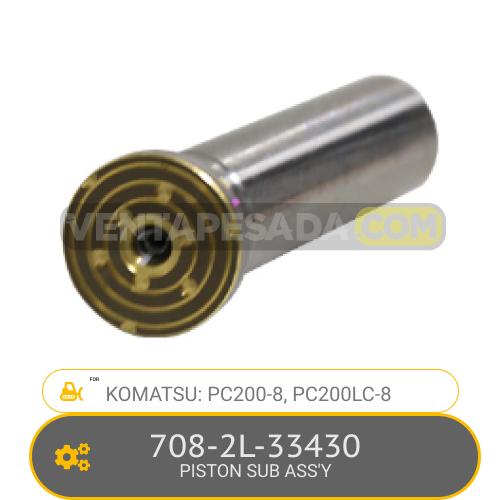 708-2L-33430 PISTON SUB ASS'Y PC200-8, PC200LC-8, KOMATSU