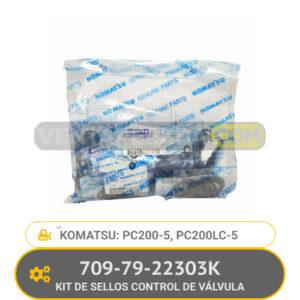 709-79-22303K KIT DE SELLOS CONTROL DE VALVULA PC200-5, PC200LC-5, KOMATSU