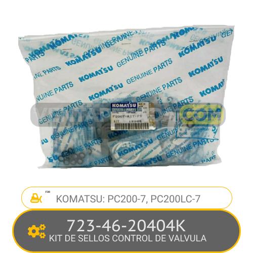 723-46-20404K KIT DE SELLOS CONTROL DE VALVULA PC200-7, PC200LC-7, KOMATSU