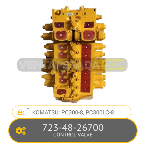723-48-26700 CONTROL VALVE PC300-8, PC300LC-8, KOMATSU
