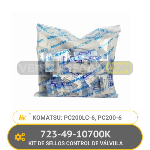 723-49-10700K KIT DE SELLOS CONTROL DE VALVULA PC200-6, PC200LC-6, KOMATSU