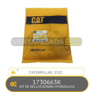 1730663K KIT DE SELLOS BOMBA HYDRAULICA 312C, CATERPILLAR