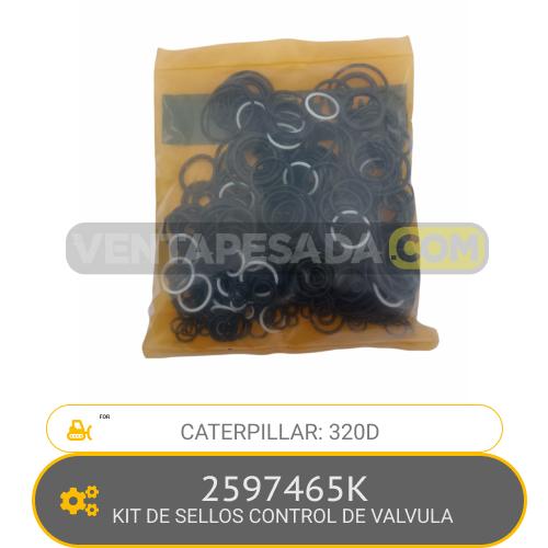 2597465K KIT DE SELLOS CONTROL DE VALVULA 320D CATERPILLAR