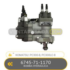 6745-71-1170 BOMBA HYDRAULICA PC300-8, PC300LC-8, KOMATSU