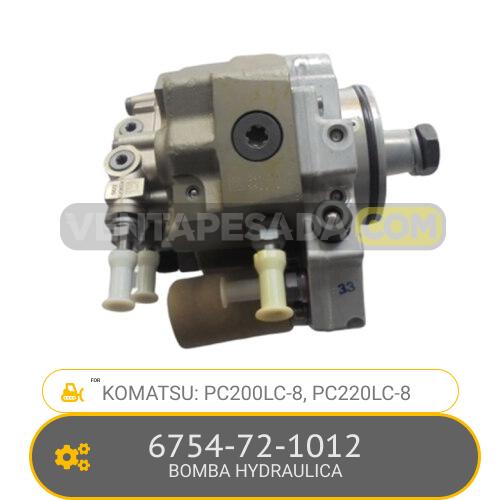 6754-72-1012 BOMBA HYDRAULICA PC200LC-, PC220LC-8, KOMATSU