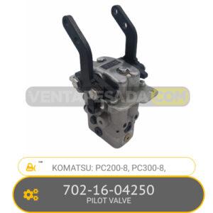 702-16-04250 PILOT VALVE PC200-8, PC300-8, KOMATSU