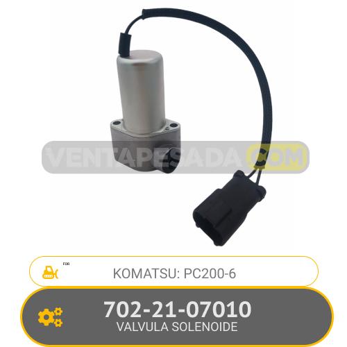 702-21-07010 VALVULA SOLENOIDE PC200-6 KOMATSU