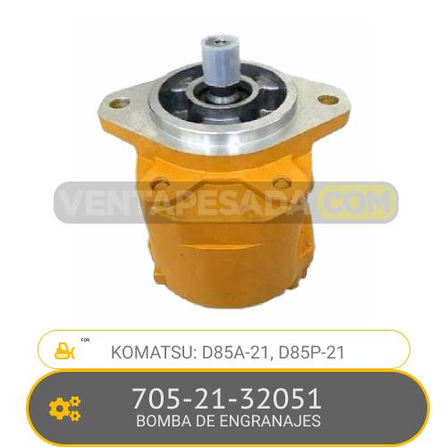 705-21-32051 BOMBA DE ENGRANAJES, D85A-21, D85P-21 KOMATSU